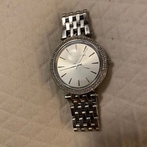 Michael Kors Darcy Pave Silver Watch